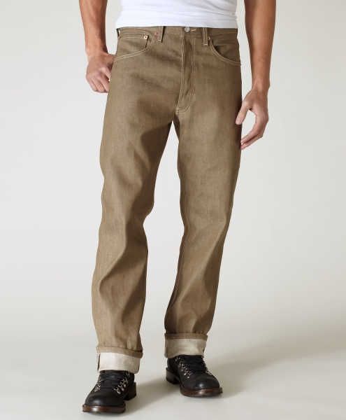 Levi's® 501® Original Shrink-to-Fit™ Jeans - Dark Khaki STF
