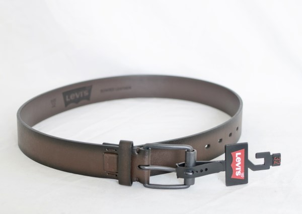 Levi's Mens Bonded Leather 40 MM Logo Patch Belt