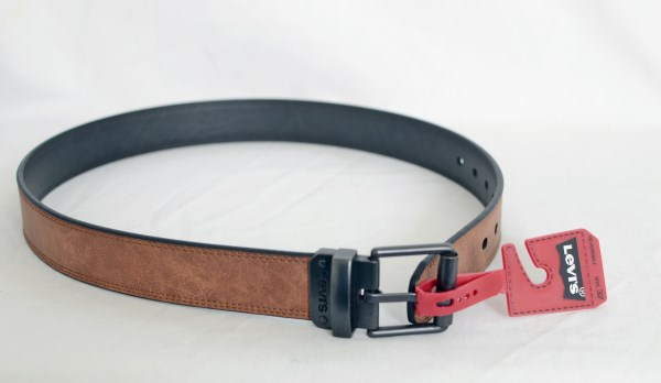 Levi's Mens Reversible Black and Tan Leather Belt