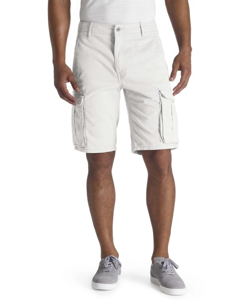LEVI'S® ACE Cargo Shorts – White Tumbled