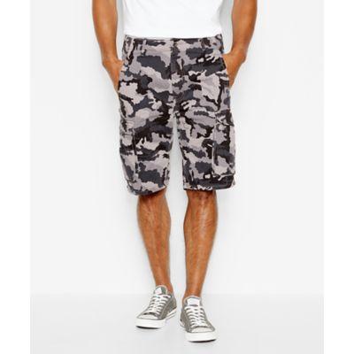 LEVI'S® ACE Cargo Shorts – Black Gridley Camo