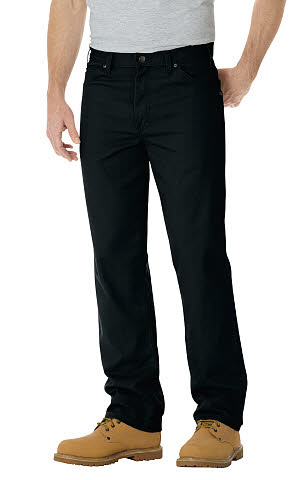 Dickies Mens Straight Fit 5 Pocket Jeans - Rinsed Overdyed Black