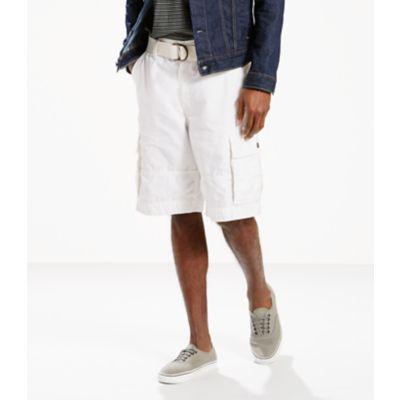 LEVI'S® Squad Belted Cargo Shorts – White