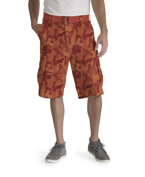 LEVI'S® Squad Belted Cargo Shorts – Burnt Gridley Camo