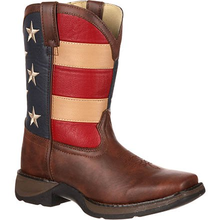 Lil' Durango Kid's Patriotic Western Flag Boot