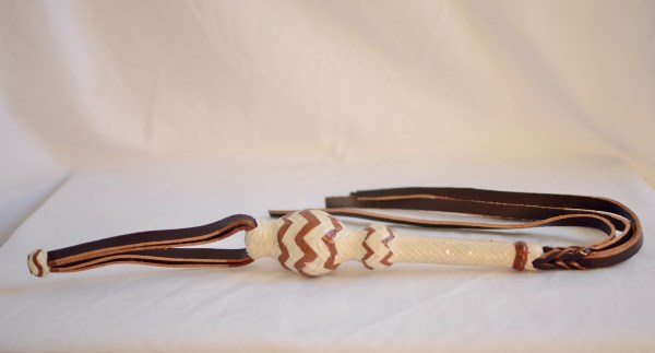 Brown & Beige Leather Quirt