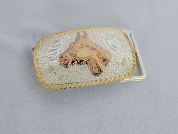 Youth Horse Head Western Belt Buckle