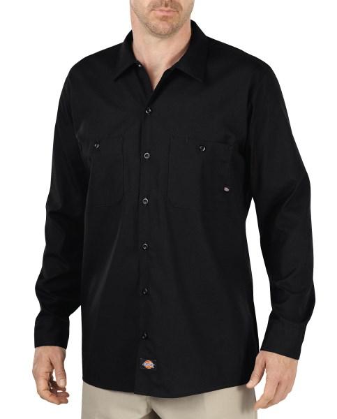 Dickies Black Long Sleeve Industrial Work Shirt – Big & Tall