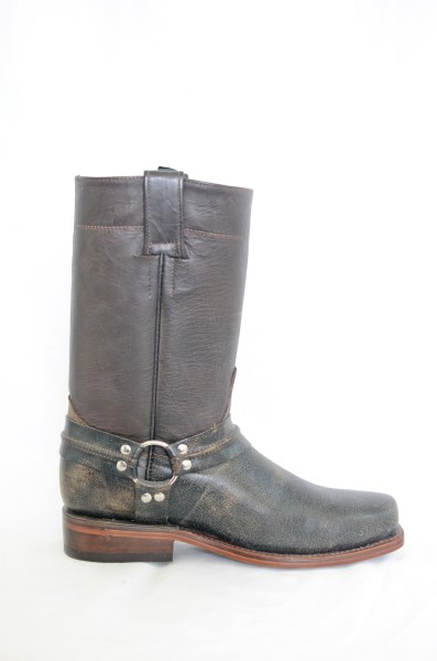 Mens Brown Square Toe Cowboy or Motorcycle Boots