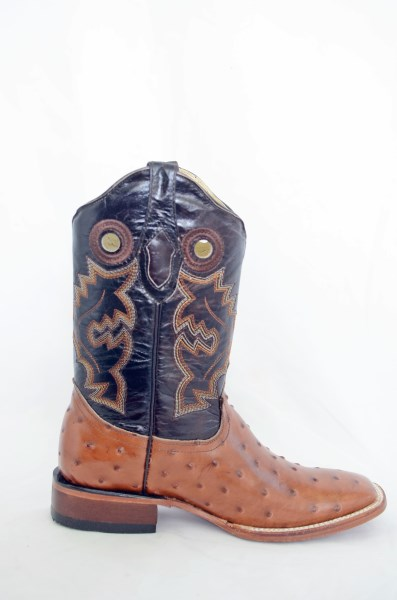 Dustin Mens Brown and Honey Wide Square Toe Cowboy Boots