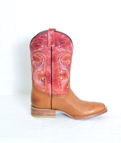 Mens Honey Square Toe Cowboy Boots