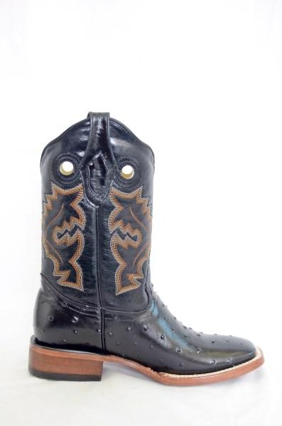 Dustin Mens Black Wide Square Toe Cowboy Boots