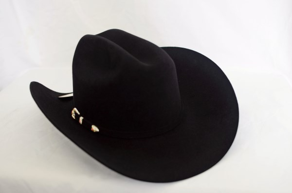 "Larry Mahan's 6X ""Real"" Black Cowboy Hat"