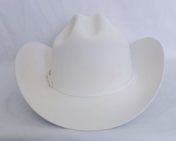 "Larry Mahan's 6X ""Real"" White Cowboy Hat"
