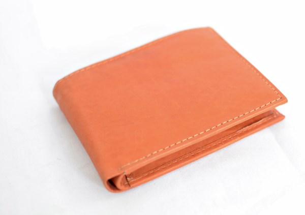 Tan Bifold Leather Wallet
