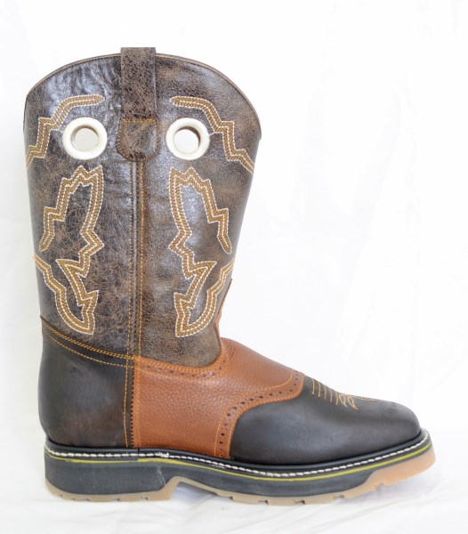 El  Dorado Mens Brown Square Toe Work Boots