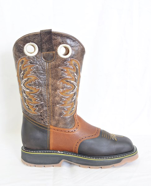 El  Dorado Mens Brown Steel Square Toe Work Boots