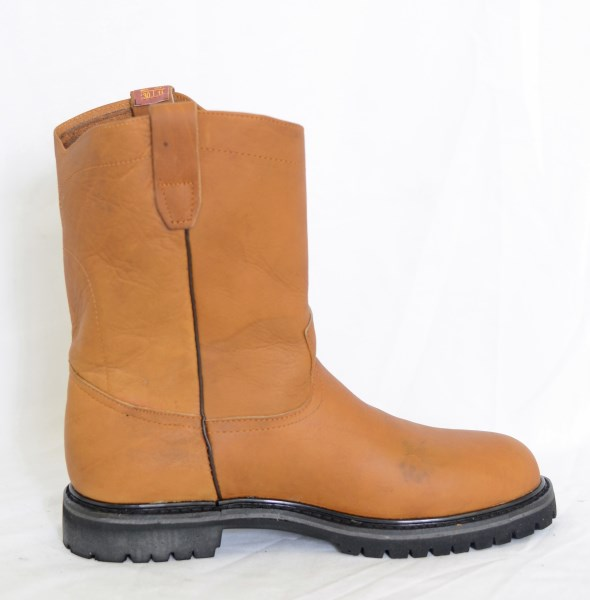 Dustin Mens Honey Round Toe Work Boots with Tractor Sole