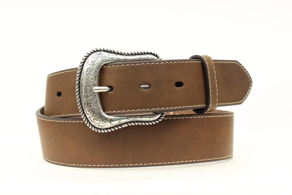 Nocona Top Hand Western Brown Leather Belt