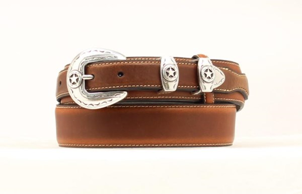 "Nocona Western 1 1/4"" Brown Ranger Style Belt"