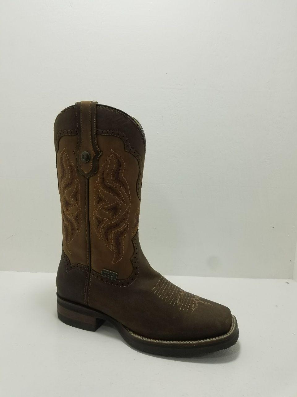 Rudel Mens Ranch Porto Chocolate Square Toe Cowboy Boots