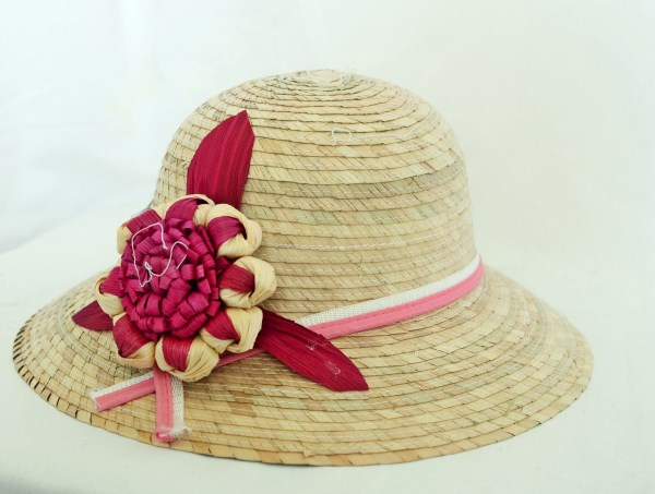 Ladies Palm Straw Hat