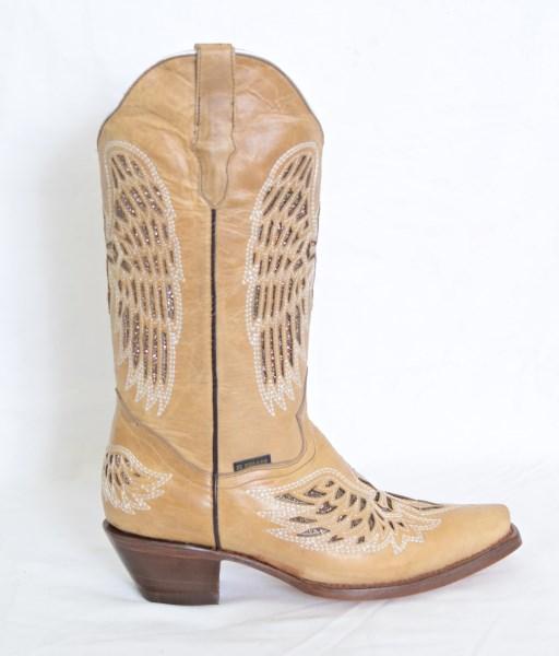 El Dorado Ladies Oryx Wing and Cross Snip Toe Cowboy Boots