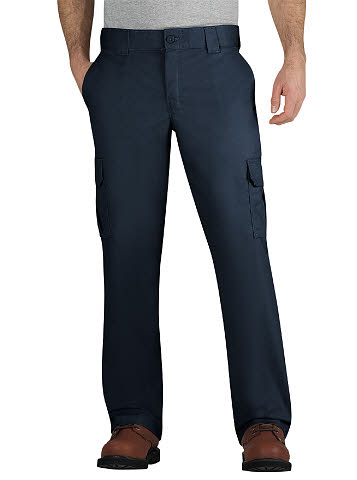 Dickies Mens Stretch Twill Cargo Pants - Dark Navy - Big & Tall