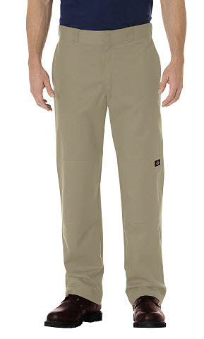 Dickies Mens Stretch Twill Double Knee Work Pants - Desert Sand