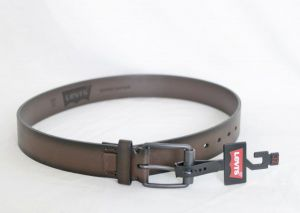 Levi's Mens Bonded Leather 40 MM Logo Patch Belt