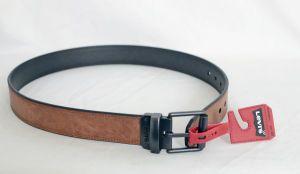 Levi's Mens Reversible Black and Tan Leather Belt