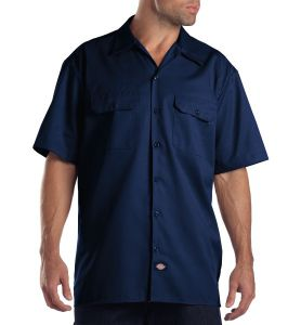 Dickies Dark Navy Short Sleeve Work Shirt - Big & Tall
