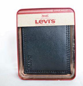 Levi's Black Bifold Passcase Wallet