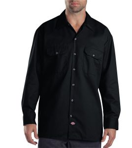 Dickies Black Long Sleeve Work Shirt - Big & Tall
