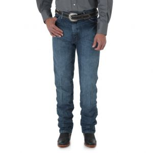 WRANGLER® Cowboy Cut® Silver Edition Slim Fit Jean - Natural Vintage Denim