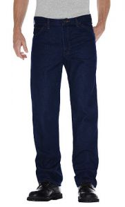Dickies Mens 5 Pocket Jeans - Rinsed Indigo Blue - Big & Tall