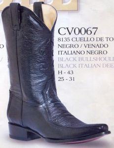 Rudel Mens Black Los Angeles Versace Toe Cowboy Boots