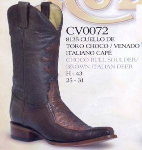 Rudel Mens Brown Los Angeles Versace Toe Cowboy Boots