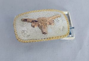 Youth Longhorn Western Belt Buckle