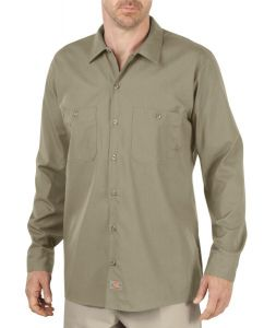 Dickies Desert Khaki Long Sleeve Industrial Work Shirt – Big & Tall