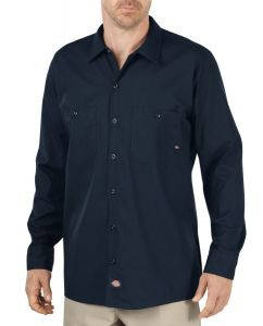 Dickies Navy Long Sleeve Industrial Work Shirt – Big & Tall