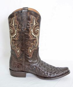 Dustin Mens Brown Square Toe Cowboy Boots