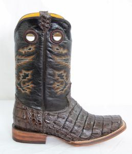 Dustin Mens Brown Square Toe Cowboy Boots