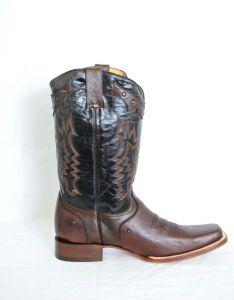 Mens Mocha Brown Square Toe Cowboy Boots