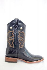 Dustin Mens Black Wide Square Toe Cowboy Boots