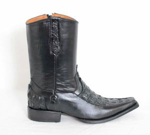 Trotamundo Mens Black Versace Toe Cowboy Boots