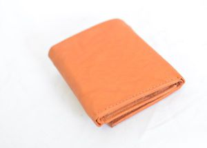 Tan Trifold Leather Wallet
