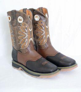 El  Dorado Mens Brown Square Toe Work Boots