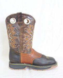 El  Dorado Mens Brown Steel Square Toe Work Boots