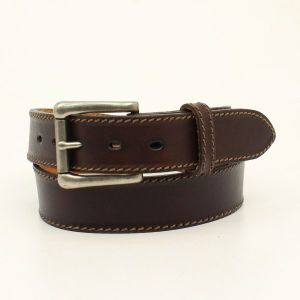 "Nocona ""Ocala"" Chocolate Western Belt"